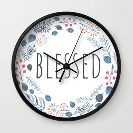 Blessed Inspirational Bible Quote Christian Blessings Wall Clock