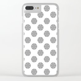 BW flower pattern 2 Clear iPhone Case