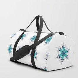 Turquoise Snowflake Duffle Bag