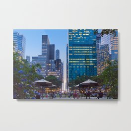 Bryant Park New york at dusk Metal Print