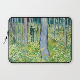 Undergrowth with Two Figures by Vincent van Gogh Laptop Sleeve
