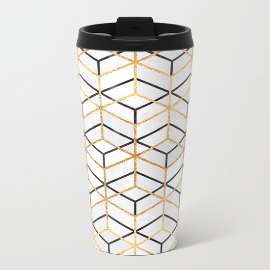Pretty Geometry 2 Metal Travel Mug