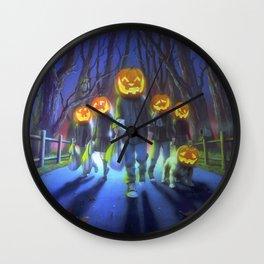 Attack of the Jack-O-Lanterns Wall Clock