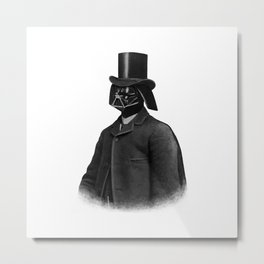 Lord Vadersworth (mono) Metal Print