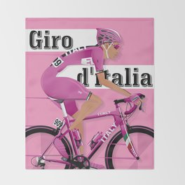 GIRO D'ITALIA Grand Cycling Tour of Italy Throw Blanket