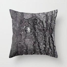 Black Bark Throw Pillow