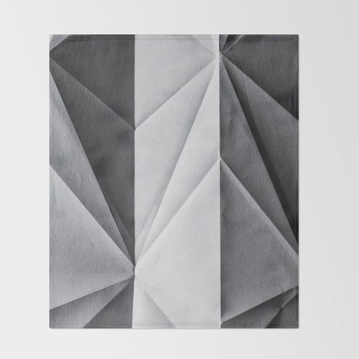Folded Paper 1 Throw Blanket