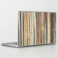 cassia beck Laptop & iPad Skins featuring Record Collection by Cassia Beck