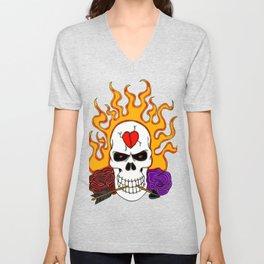 Anti Valentine Skull Unisex V-Neck