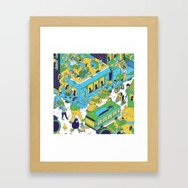 comics city Framed Art Print