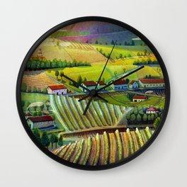 green landscape Wall Clock