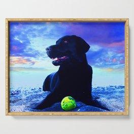 Ziggy Black Labrador Serving Tray