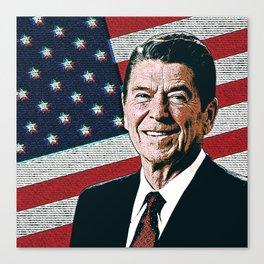 Patriotic President Reagan Canvas Print