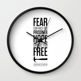Lab No. 4 - Hope Inspirational Quote by Stephen King Inspirational Quotes Wall Clock