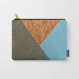 Tri-Coloured Texture Carry-All Pouch