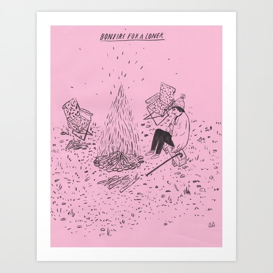Bonfire for a Loner Art Print