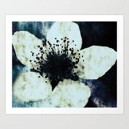 Dark blue ~ floral Art Print