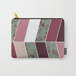 Plum Herringbone #society6 #plum #succulent Carry-All Pouch