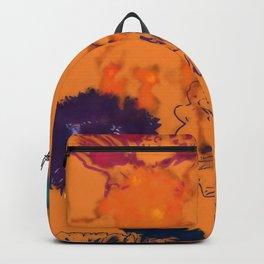 fall floral orange Backpack