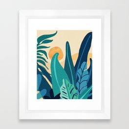 Afternoon Landscape  - Vertical Retro Palette Framed Art Print