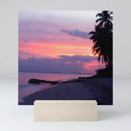 Island sunset Mini Art Print