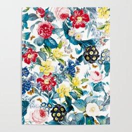 Spring-Summer Botanical Pattern Poster