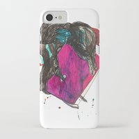 it crowd iPhone & iPod Cases featuring crowd by Zane Veldre