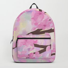 Cherry Blossoms in the wind with sweet pastel colors Backpack