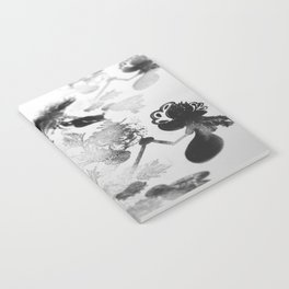 black and white floc Notebook