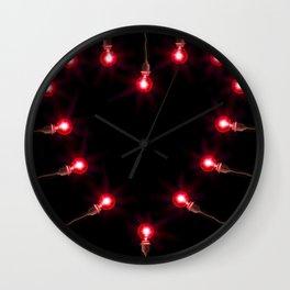 Heart Lights Wall Clock