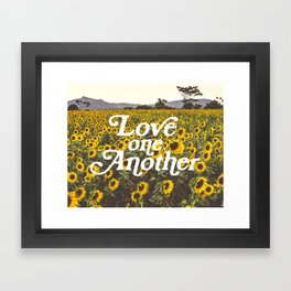 Love One Another Sunflowers Framed Art Print
