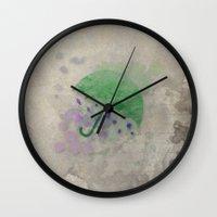 umbrella Wall Clocks featuring Umbrella by Badamg