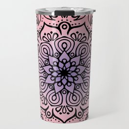Baesic Sunset Traquil Mandala Travel Mug