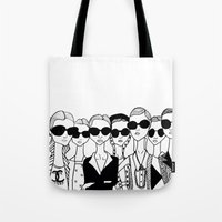 vogue Tote Bags featuring Vogue by Rosalia Mendoza