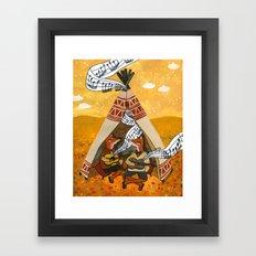 Wigwam Waltz Framed Art Print