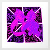 ariana grande Art Prints featuring Ariana Grande Ft. Iggy Azalea by Glopesfirestar