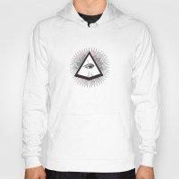 illuminati Hoodies featuring Illuminati by Heiko Hoos