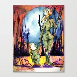 Walk In The Deadwoods Canvas Print