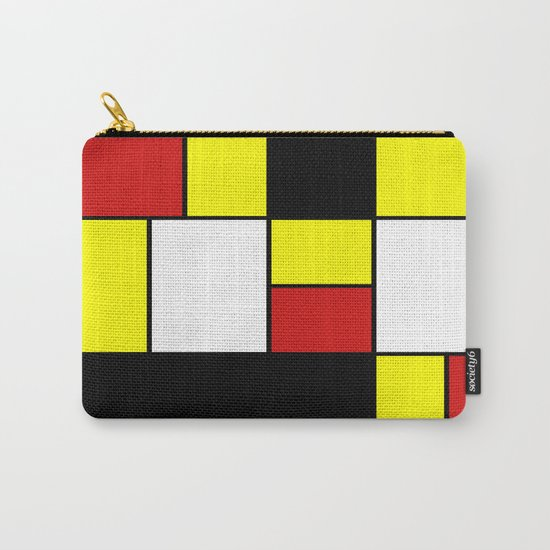 Abstract #378 Mondriaan Carry-All Pouch