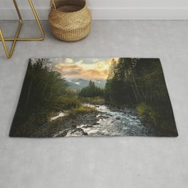 The Sandy River I - nature photography Rug
