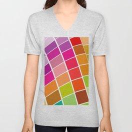 mosaic pattern Unisex V-Neck