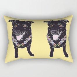 Happy Black Lab Dog Rectangular Pillow