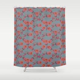 Dark floral pattern Shower Curtain