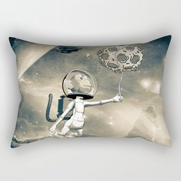Funny monkey astronaut in the universe Rectangular Pillow