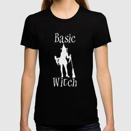 Basic Witch Pumpkin Spice Latte Halloween T-shirt