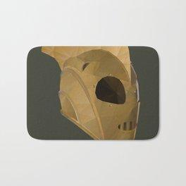 Rocketeer Helmet polygon art Bath Mat