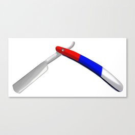 Straight Razor Canvas Print