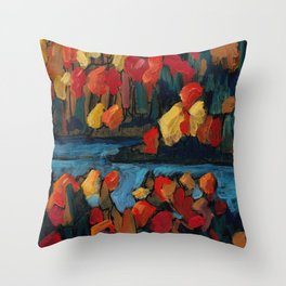 Autumn Foliage / Dennis Weber of ShreddyStudio Throw Pillow