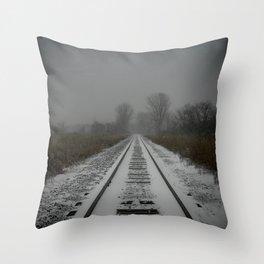 Freezing Steel Throw Pillow