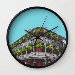 Hanging Baskets of Royal Street, New Orleans Wall Clock